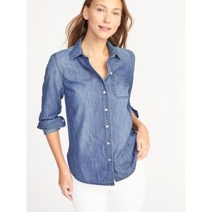 Relaxed Chambray Shirt for Women